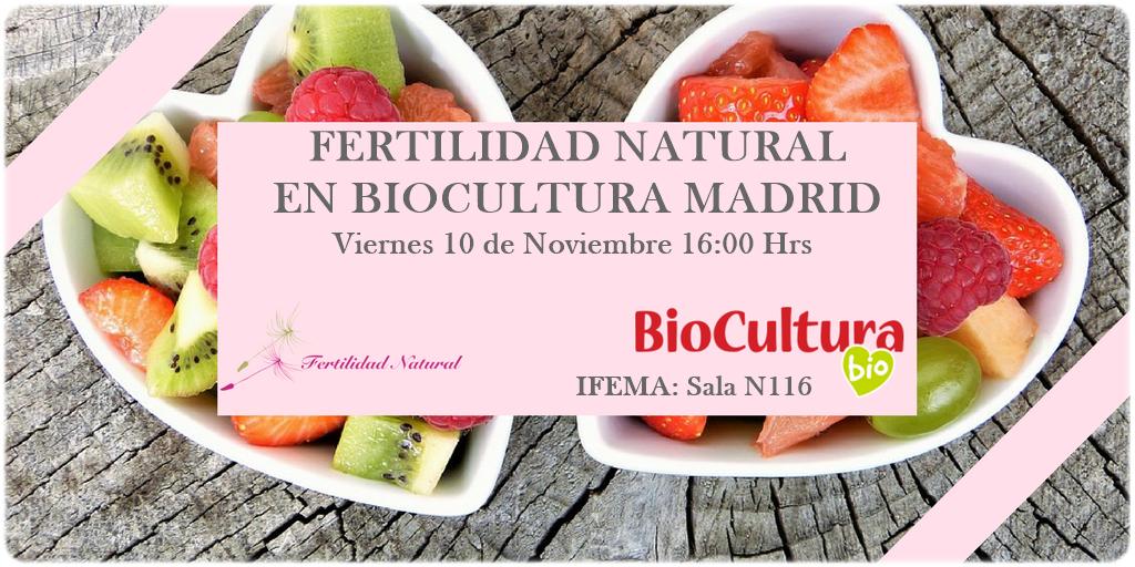 Fertilidad Natural en Biocultura Madrid 2017